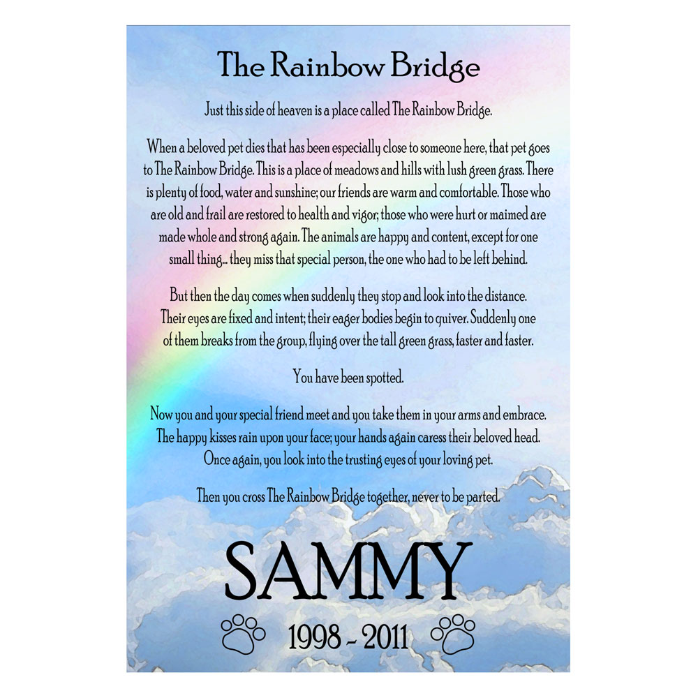 Gargantuan image for rainbow bridge printable