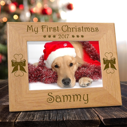 Personalized My First Christmas Frame For Dogs