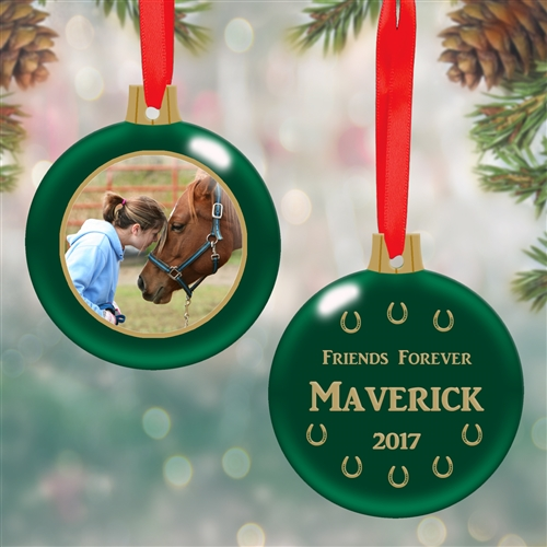 personalized horse bulb ornament